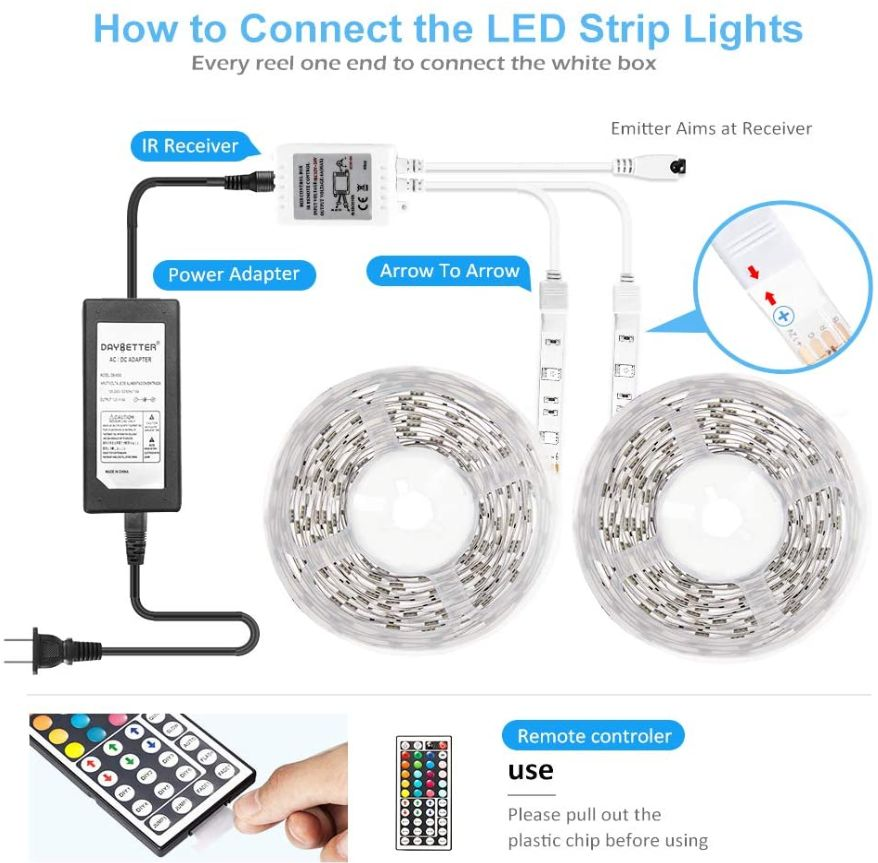 This image has an empty alt attribute; its file name is DAYBETTER-Led-Strip-Lights-32.8ft-10m-daybetterled.com-with-44-Keys-IR-Remote-and-12V-Power-Color-Changing-LEDs-Light-Strips-Kit-for_ys.jpg